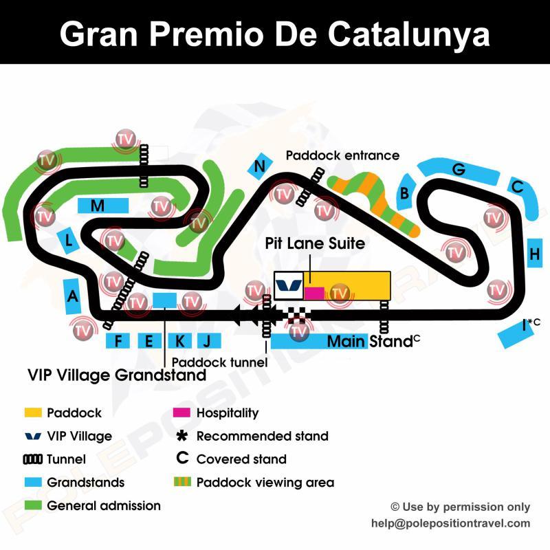 Gran Premi De Catalunya 2019 Circuit map
