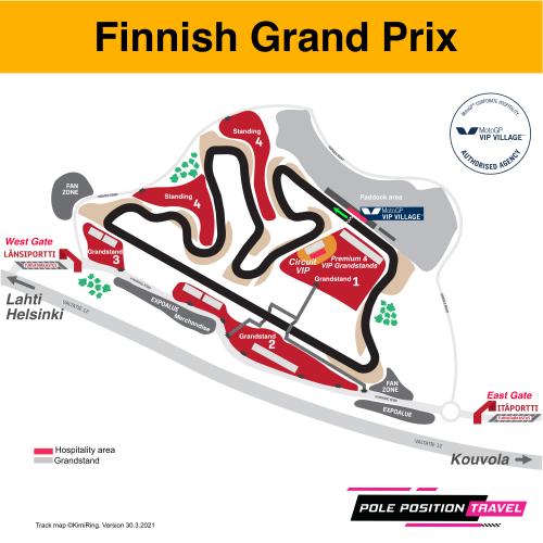 Finland Grand Prix 2022 Circuit map