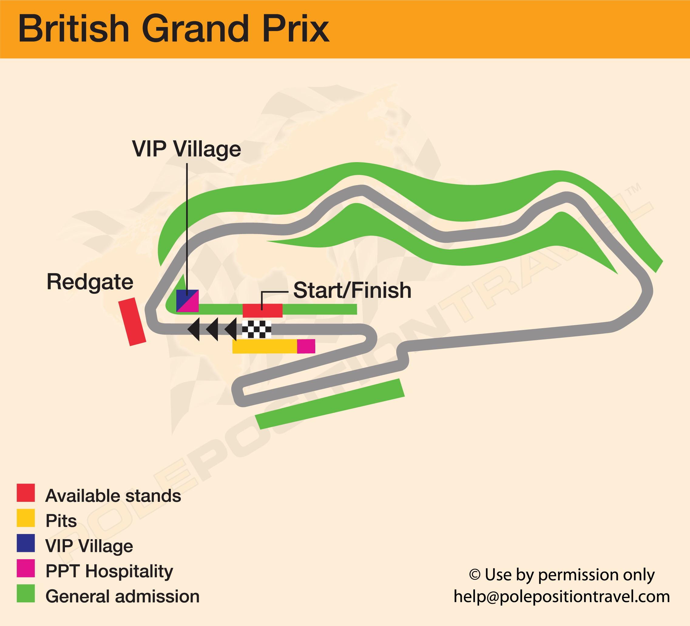 WSBK Donington 2018 Circuit map